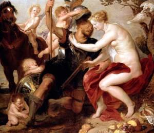 scuola di Rubens - Venere e Marte - Palazzo Amone (Cosenza) 1650 ca.